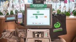 澳洲超市的結帳機台