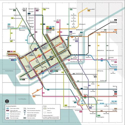 墨爾本電車路線圖