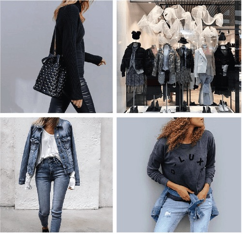 Decjuba服飾品牌的店面、牛仔外套和牛仔褲