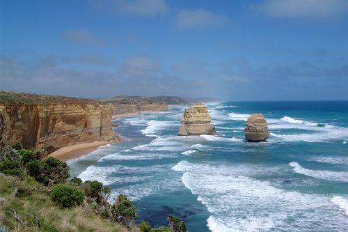大洋路的巨岩與岩壁