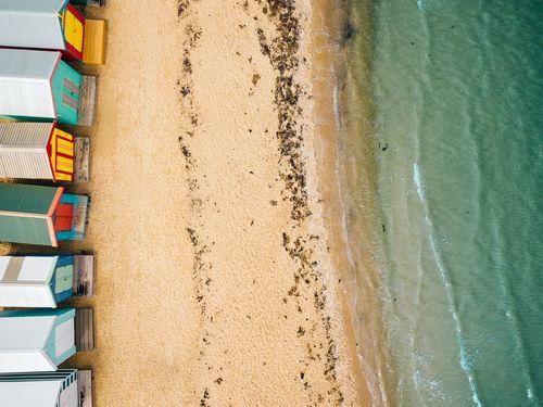 布萊頓海灘與彩虹小屋